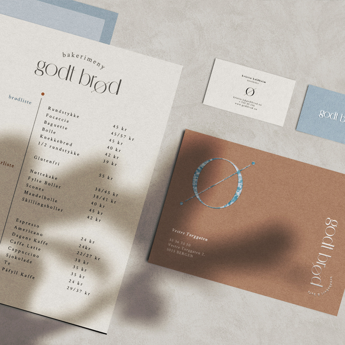 Multiple stationary for the nordic bakery Godt Brod